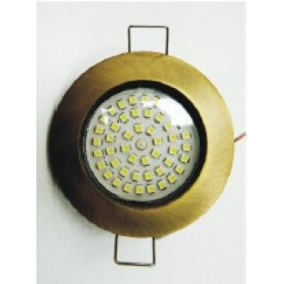 SPOT LED 48SMD 2.7W 3000K ROTUND FIX SATIN